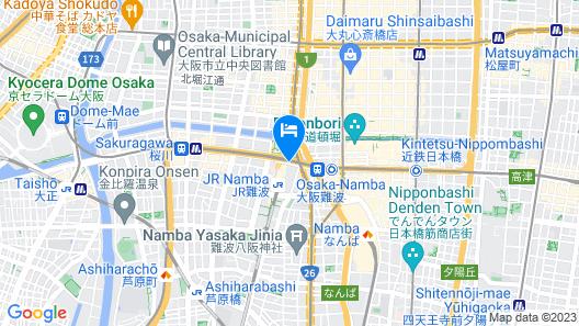 Hotel Monterey Grasmere Osaka Map