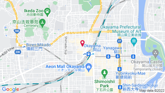 Hotel Livemax Okayama West Map