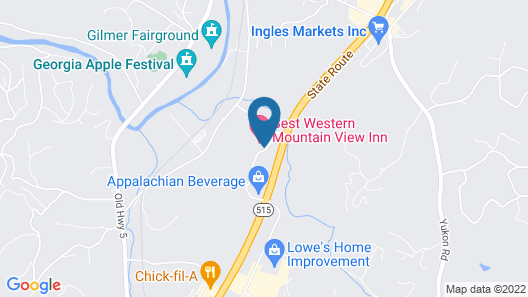 Best Western Mountain View Inn Map