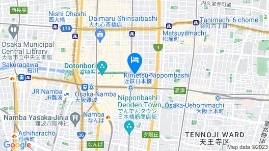 Sotetsu Grand Fresa Osaka-Namba Map