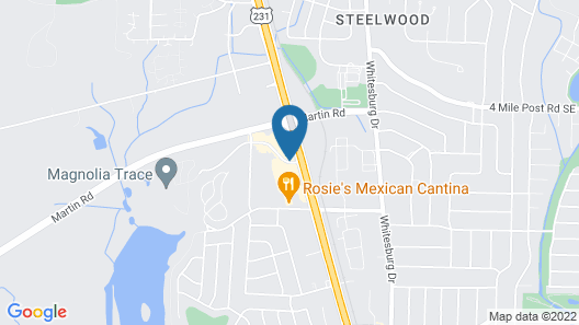 DoubleTree Suites by Hilton Hotel Huntsville South Map