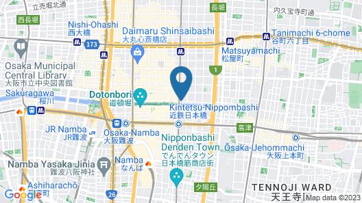 Yamatoya Honten Ryokan Osaka Map