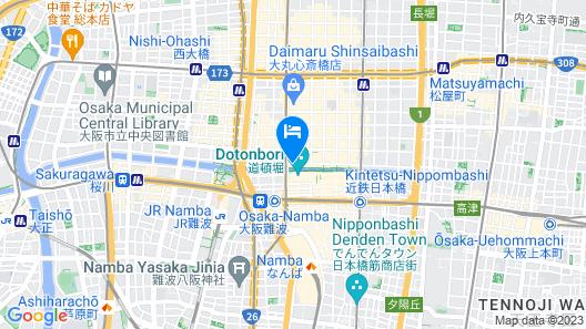 Cross Hotel Osaka Map