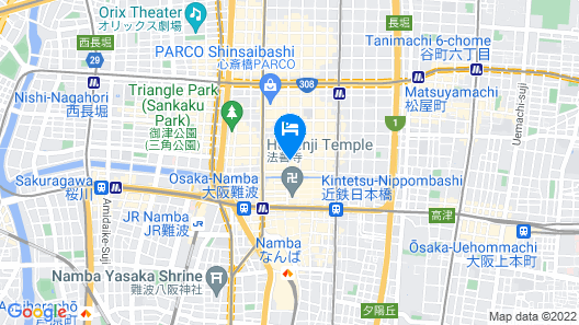 Welina Hotel Shinsaibashi NAGOMI Map