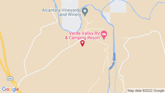 Verde Valley RV & Camping Resort, a Thousand Trails Property Map