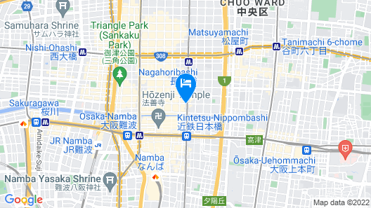 Hotel Vista Osaka Namba Map