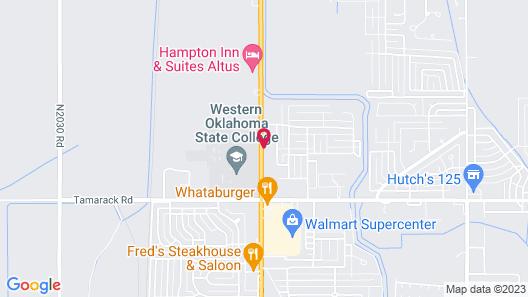 OYO Hotel Altus N Main St Map