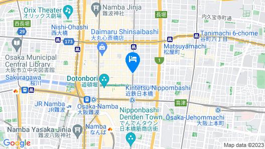 Candeo Hotels Osaka Namba Map