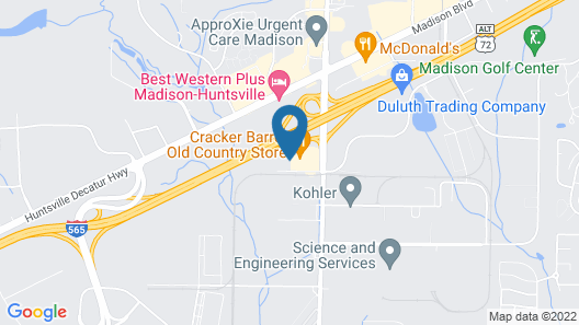 Clarion Pointe Madison-Huntsville Map