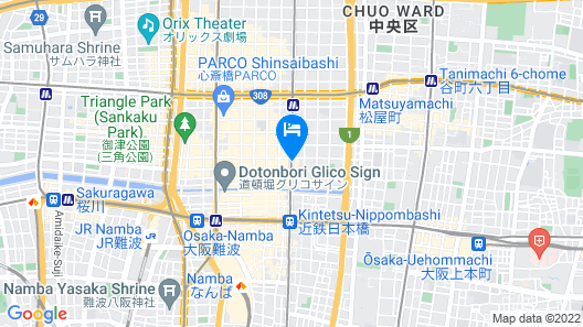 Dormy Inn Premium Namba Natural Hot Spring Map