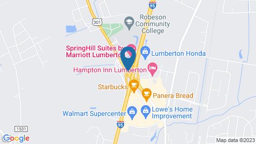 SpringHill Suites Lumberton Map