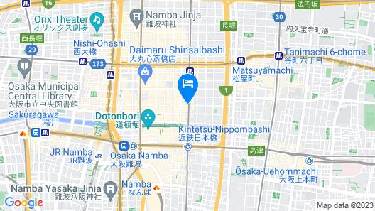 Dormy Inn Premium Namba ANNEX Natural Hot Spring Map