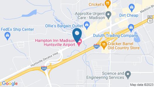Hampton Inn Madison Huntsville Airport Map