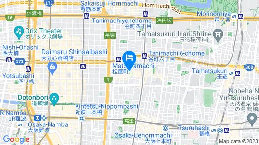 HG Cozy Hotel No.16 Matsuyacho Station Map