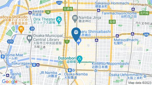 Hotel Nikko Osaka Map
