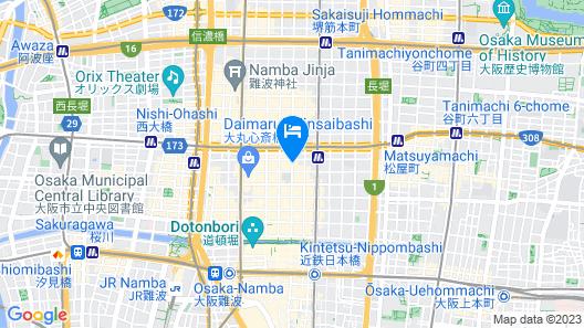 Quintessa Hotel Osaka Shinsaibashi Map