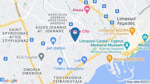 Pefkos Hotel Map