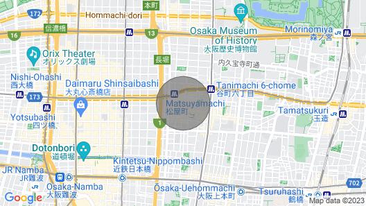 5min From Matsuyamachi Station 8 People House - Stop by Shinsaibashi / Central District of Osaka City Osaka Map