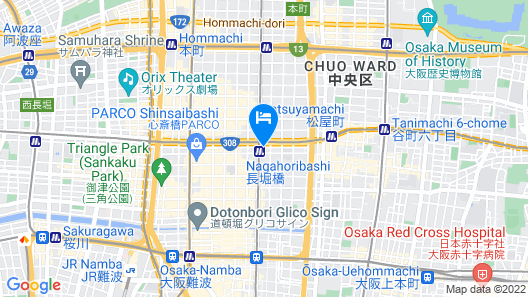 Ark Hotel Osaka Shinsaibashi - ROUTE-INN HOTELS - Map