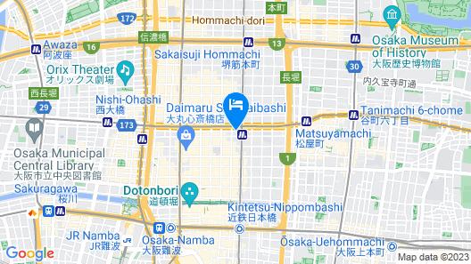 Best Western Hotel Fino Osaka Shinsaibashi Map