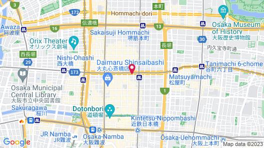 Hotel Morning Box Osaka Shinsaibashi Map