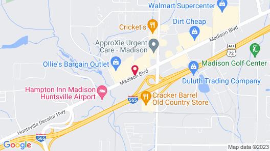 Best Western Plus Madison-Huntsville Hotel Map