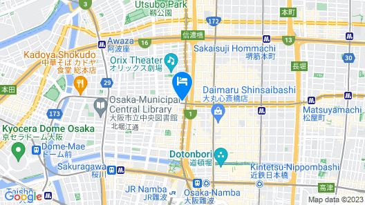 Via Inn Shinsaibashi Yotsubashi Map
