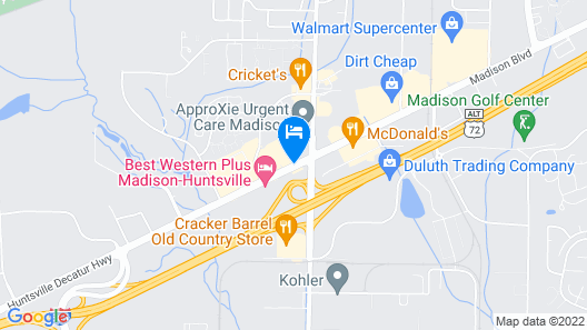 Holiday Inn Express & Suites Huntsville Airport Map