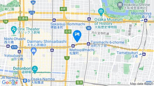 Life House Shinsaibashi Osaka Castle Map