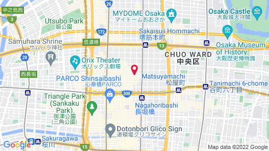 Smile Hotel Premium Osaka Hommachi Map