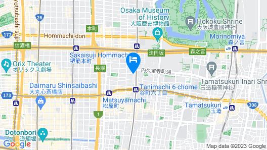 HG Cozy Hotel No.31 Tanimachi 6-chome Station Map