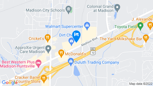 Madison Inn and Suites Map