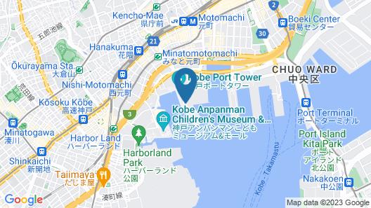 Kobe Meriken Park Oriental Hotel Map