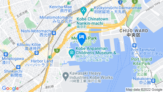 Kobe MerikenPark Oriental Hotel Map