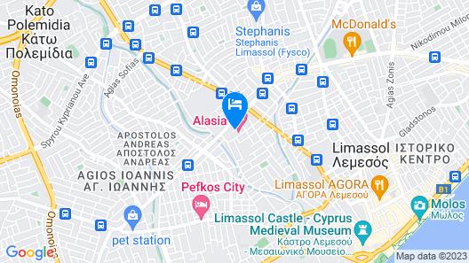 Alasia Hotel Map