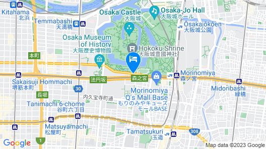 KKR Hotel Osaka Map