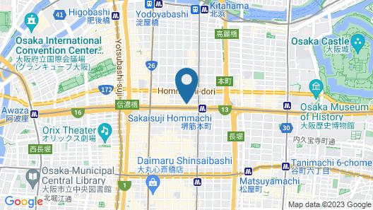 Courtyard by Marriott Osaka Honmachi Map