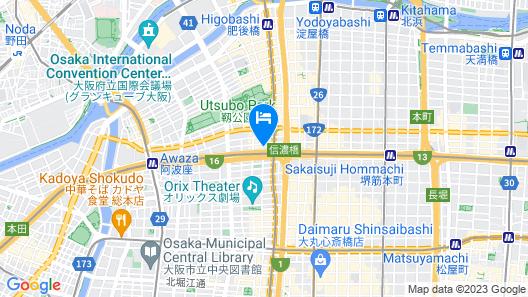 Super Hotel Premier Osaka Honmachi -Natural hot spring- Map