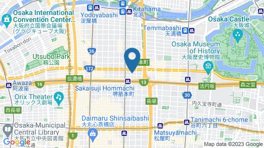 The Lively Honmachi Osaka Map