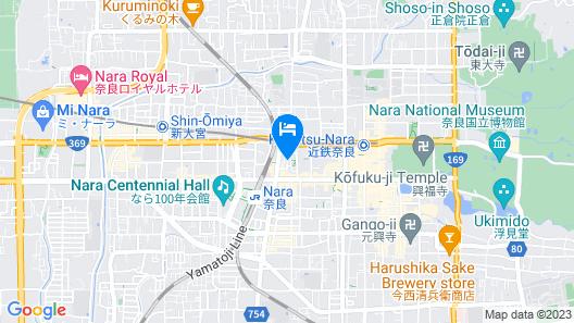 Centurion Hotel Classic Nara Map