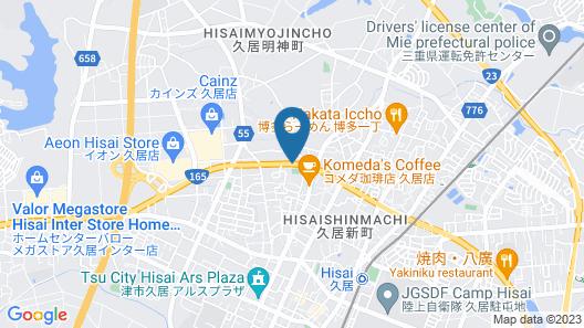 Hotel Route-Inn Hisai Inter Map