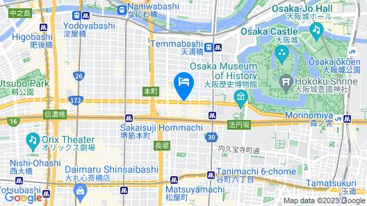 Dormy Inn Osaka Tanimachi Natural Hot Spring Map