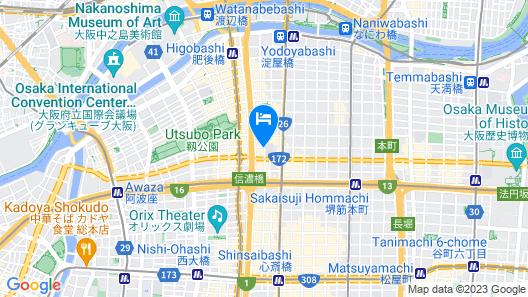 Osaka View Hotel Honmachi Map