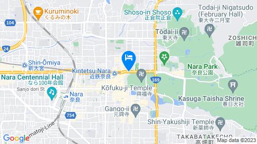 Noborioji Hotel Nara Map