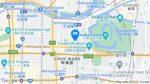 Business Inn Tanimachi Map