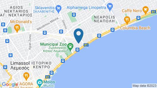 Kapetanios Limassol Hotel Map