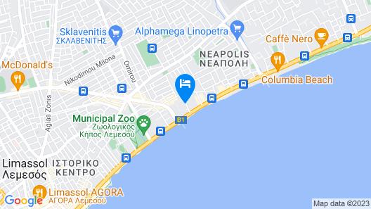 Kapetanios Odysseia Hotel Map