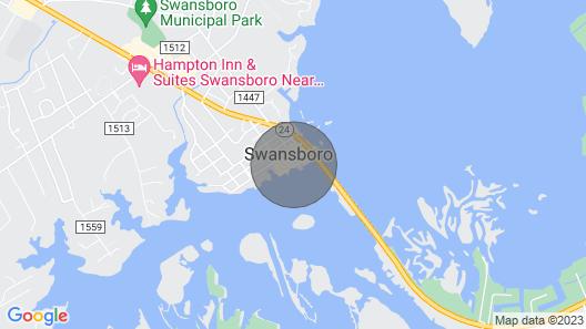 Historic Swansboro Studio w/ Intracoastal View! Map