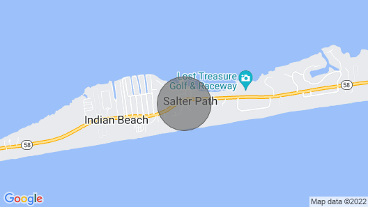 Salter Path Home-Short Walk to Indian Shores & Bay Map