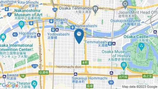 Hotel Brighton City Osaka Kitahama Map